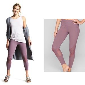 Athleta Mesh Tight 7/8 Color Dusty Rose Size L